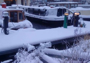 Barges in King's Cross