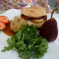 The Foie Gras Burger (caramelised pear optional)