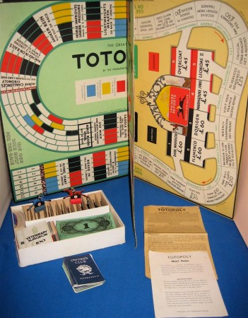 Totopoly, the gambling addiction game involving shady racetrack types