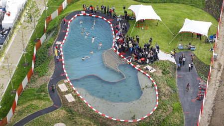 The opening celebration of King's Cross Pond Club