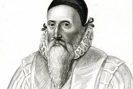 PR737 Engraved print - Portrait of John Dee engraved by R Cooper, c1800 - RCP_0